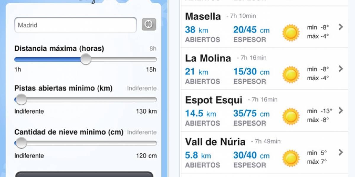 España: Planifica tus viajes de esquí desde el teléfono móvil