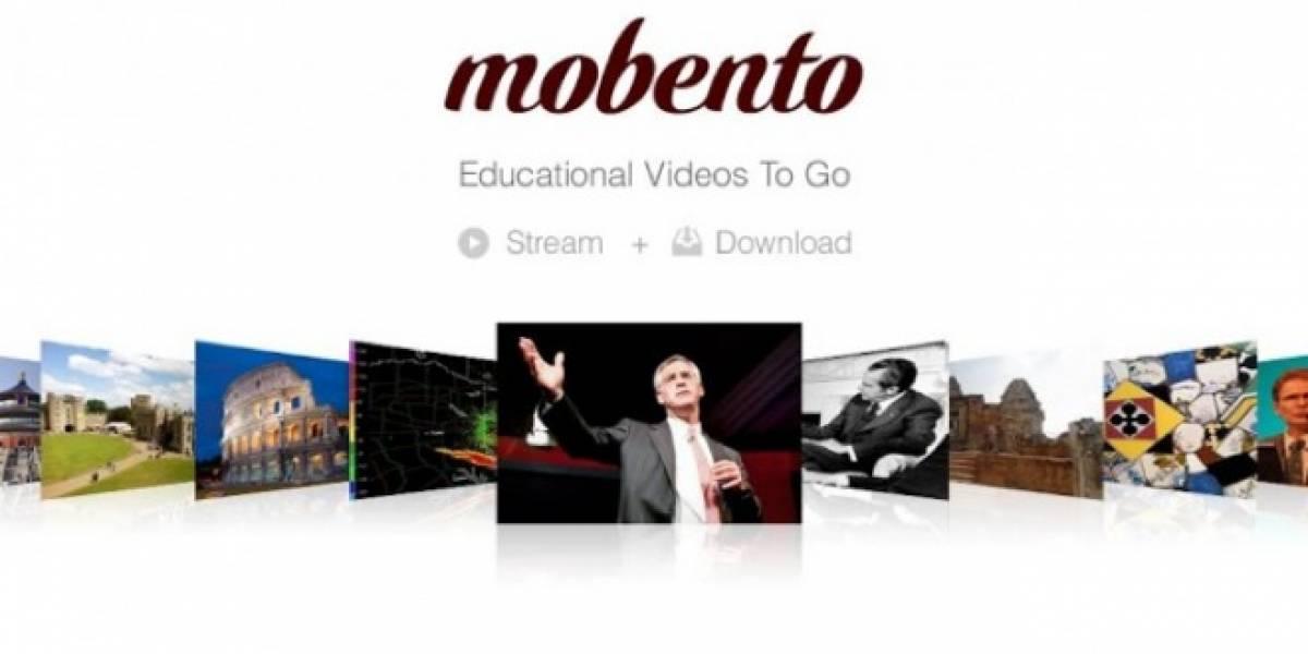 Mobento: Videos educativos vayas donde vayas