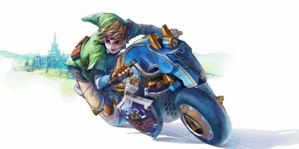 Nintendo revela nueva moto de Link para Mario Kart 8