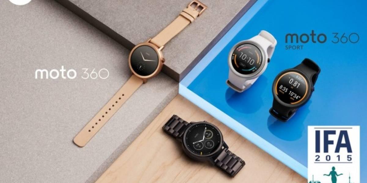 Motorola presenta la segunda generación del Moto 360 y también al Moto 360 Sport #IFA15