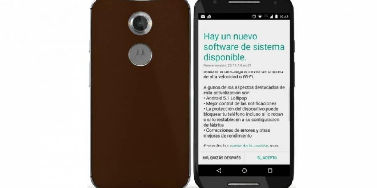 Motorola Moto X 2014 comienza a actualizarse a Android 5.1 en Chile