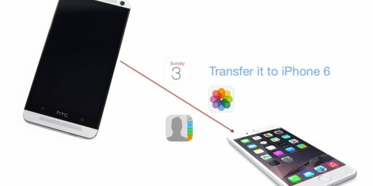 Ya está disponible la app oficial de Apple para transferir datos desde Android a iOS