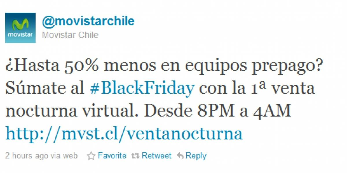 "Chile: Movistar realizará venta de ""Black Friday"" nocturna y virtual"