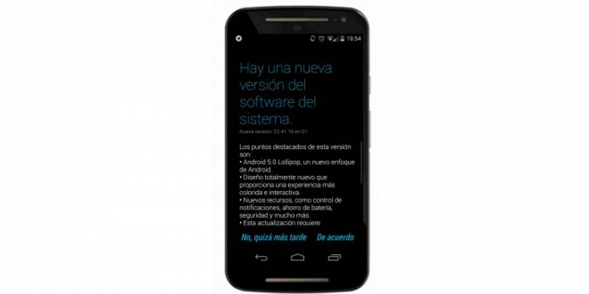 Motorola Moto G 2014 de Movistar Chile, se actualizan a Android Lollipop