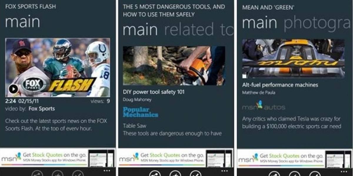 MSN Onit, una guía de estilo para hombres con WP7