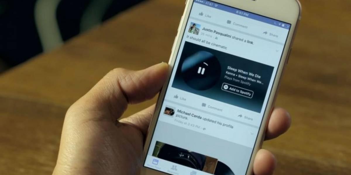 Facebook permite hacer stream de música mientras lees tu feed de noticias