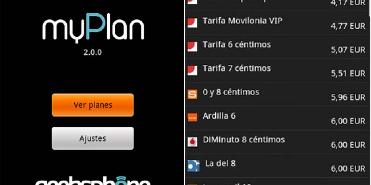 MyPlan: Una aplicación para comparar las tarifas de las operadoras españolas