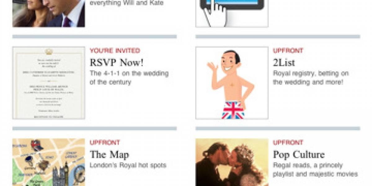 Una boda real con i de iPad