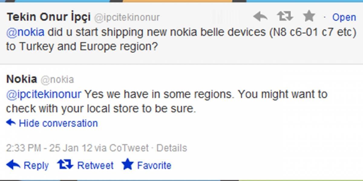 Nokia ya está vendiendo sus equipos con Symbian Belle