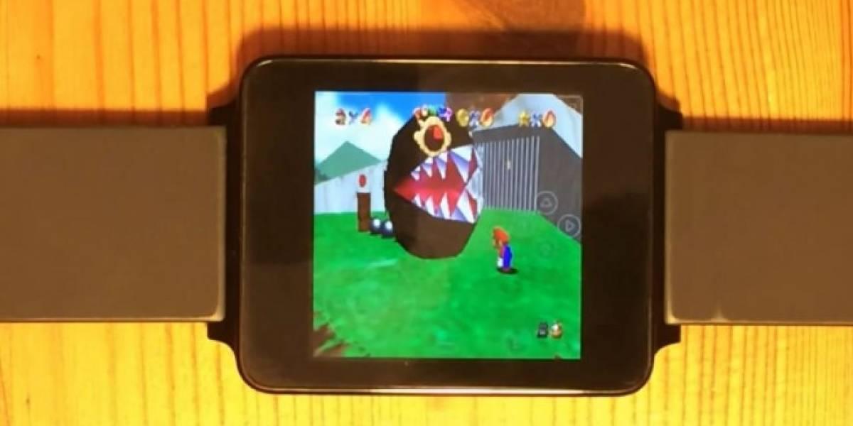 Así se juega Super Mario 64 en Android Wear