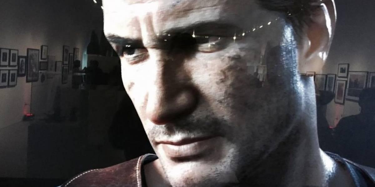 Un vistazo al rostro de Nathan Drake en Uncharted 4