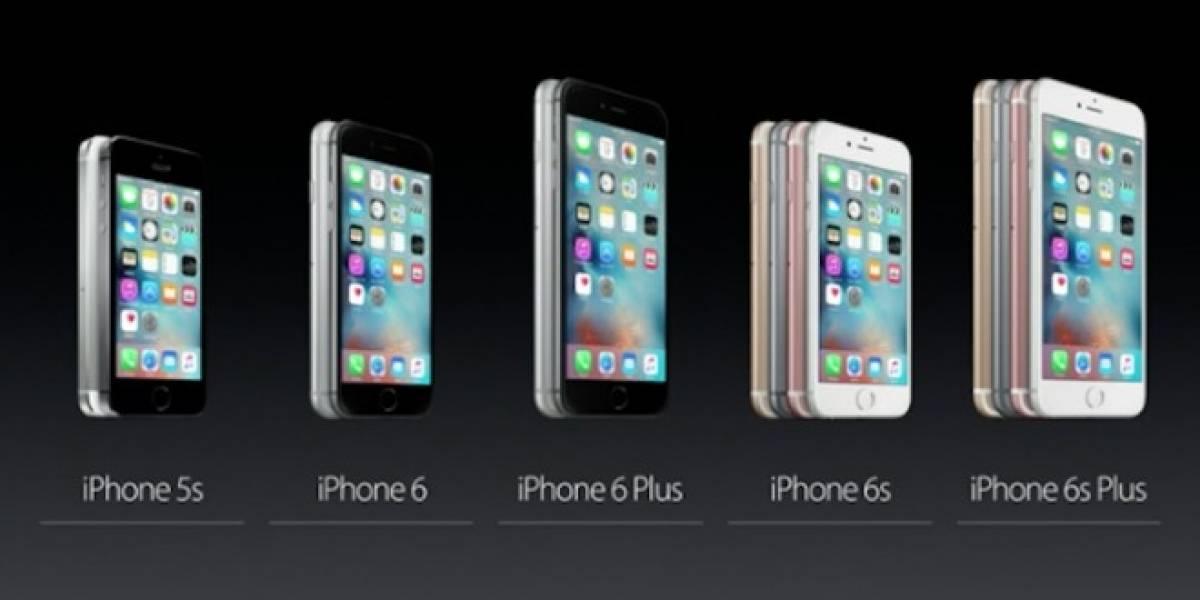 Tabla comparativa: iPhone 6s vs Generación anterior y competencia Android