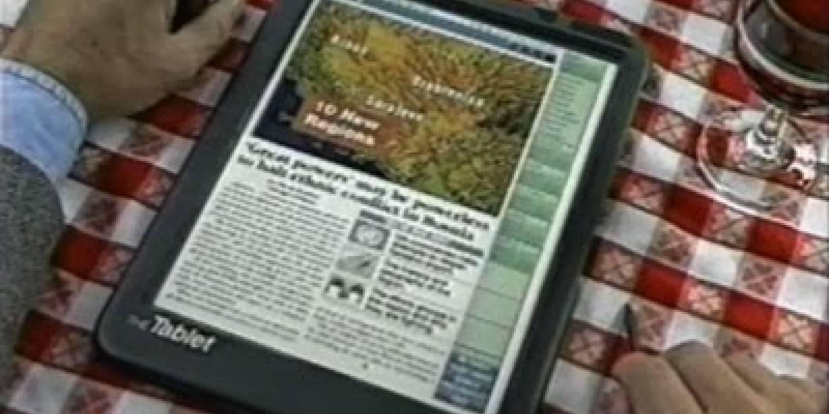 Ya en 1994 se hablaba de periódicos digitales y tablets