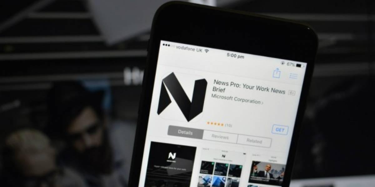 Microsoft lanza News Pro, una nueva app de noticias para iOS