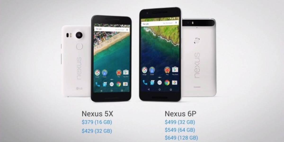 Tabla comparativa: Los nuevos Nexus 6P y 5X versus smartphones actuales