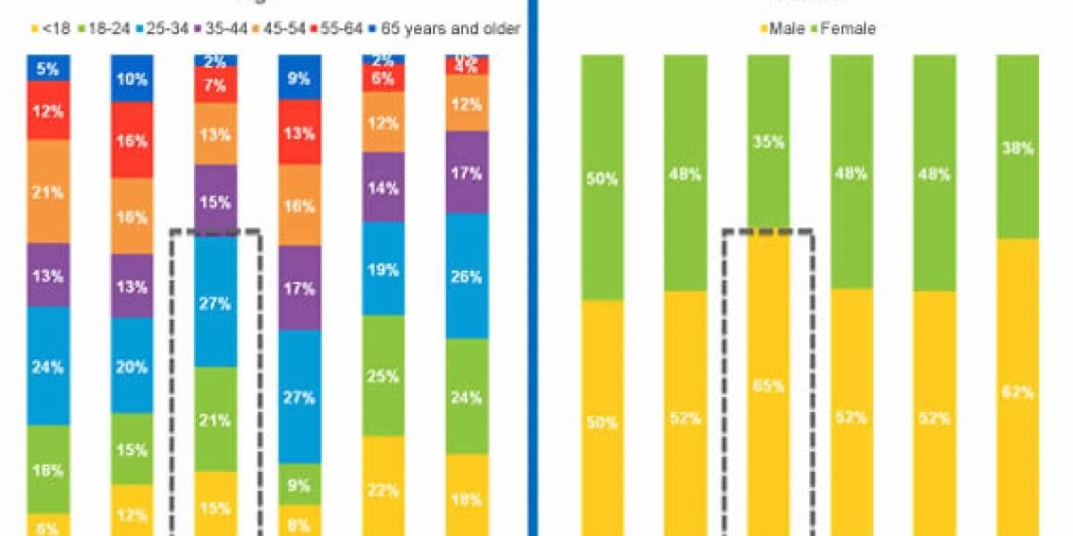 Dueños de iPads son más jóvenes; los de Kindle tienen mejores estudios e ingresos