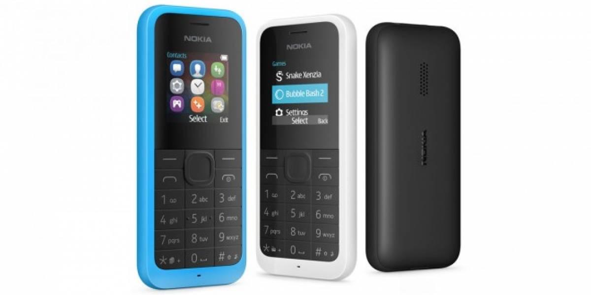 Microsoft lanza una nueva versión del Nokia 105, su teléfono de USD $20