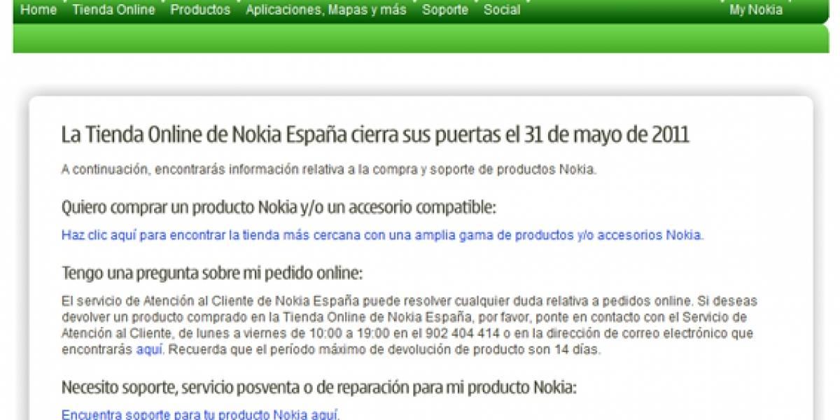 España: Nokia cerró su tienda en línea