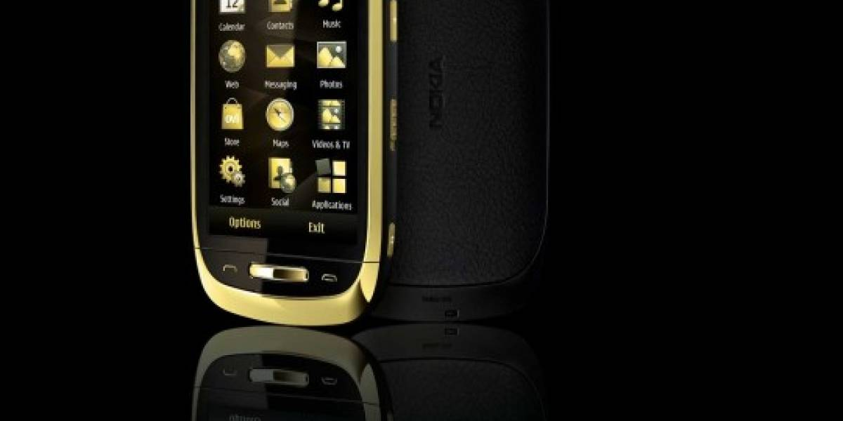 ¡De lujo! Nokia lanza un C7 bañado en oro