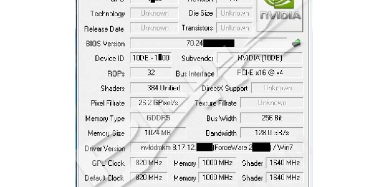 Detalles de la próxima GeForce GTX 560