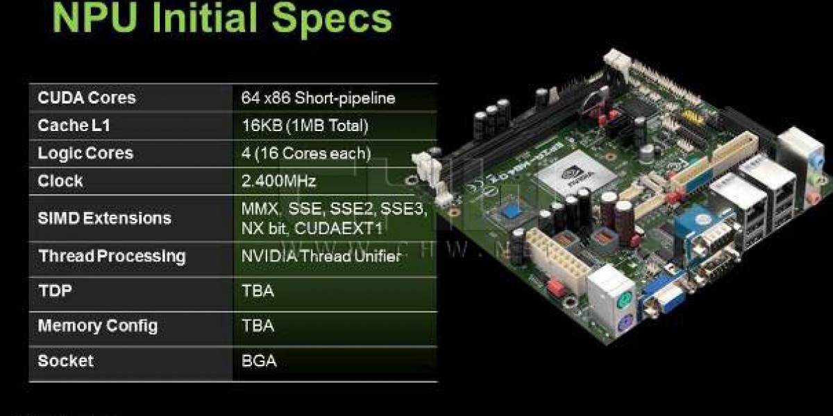Exclusivo: NVIDIA NPU, su primera CPU x86 filtrada