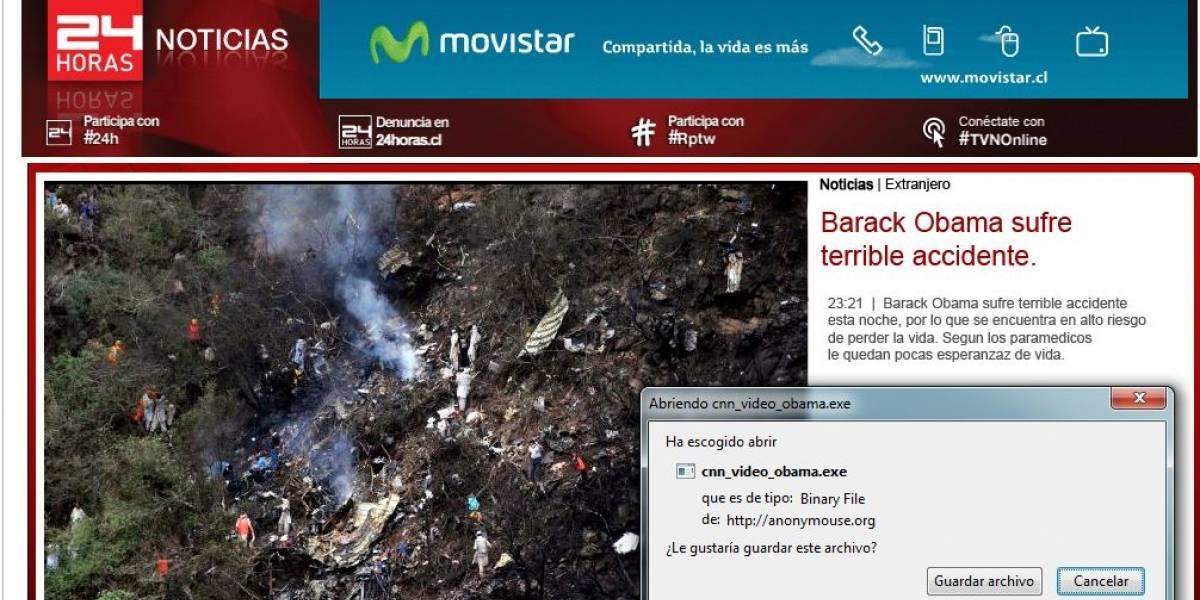 Chile: intentan propagar virus con falso accidente de Obama