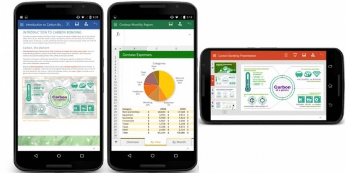 Microsoft lanza Word, Excel y PowerPoint para teléfonos Android