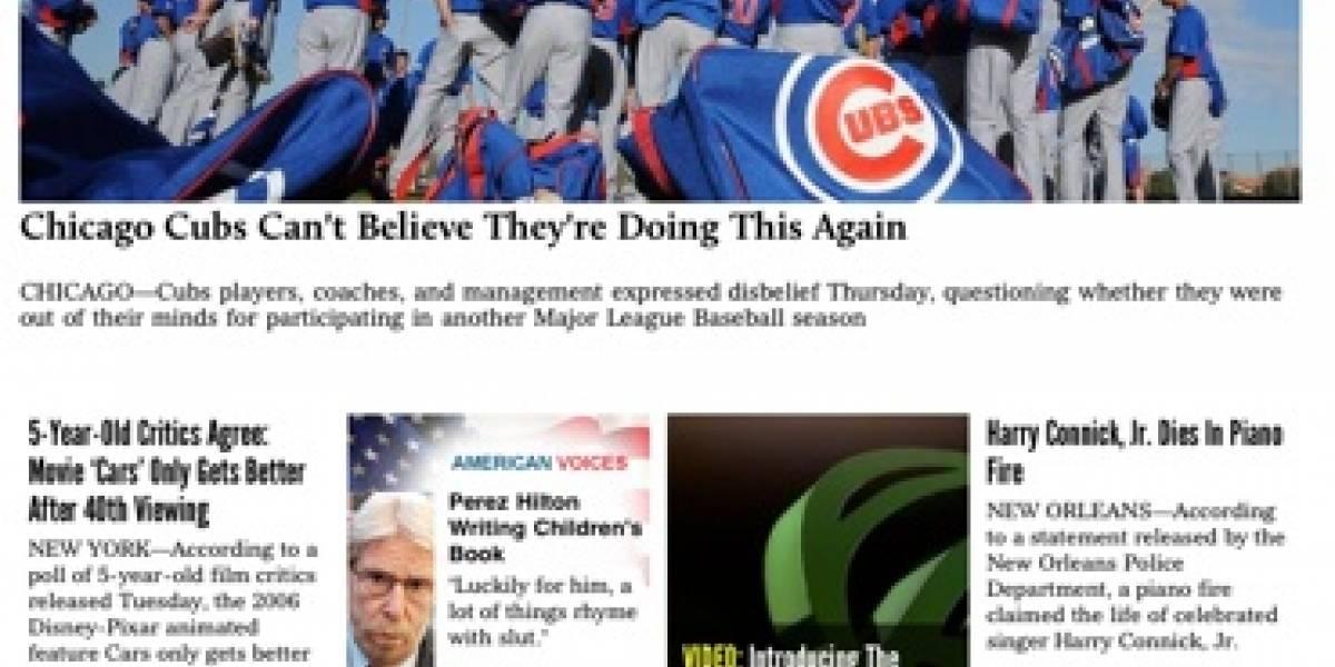 The Onion y sus noticias-falsas llegan al iPad