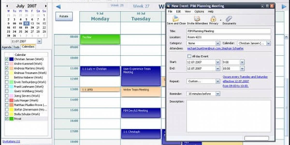 OpenOffice 3.0 incluirá reemplazo para Outlook