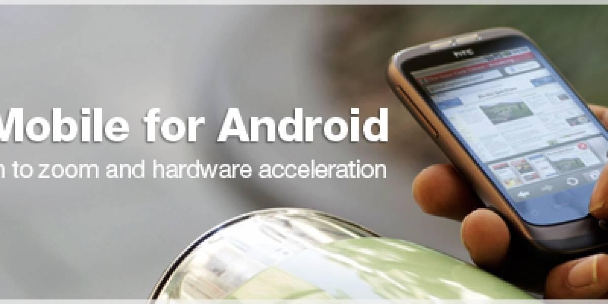 Opera Mobile para Android llegará en un mes más