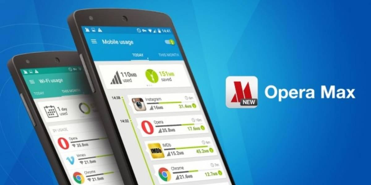Opera Max ahora permite ahorrar datos en música por streaming