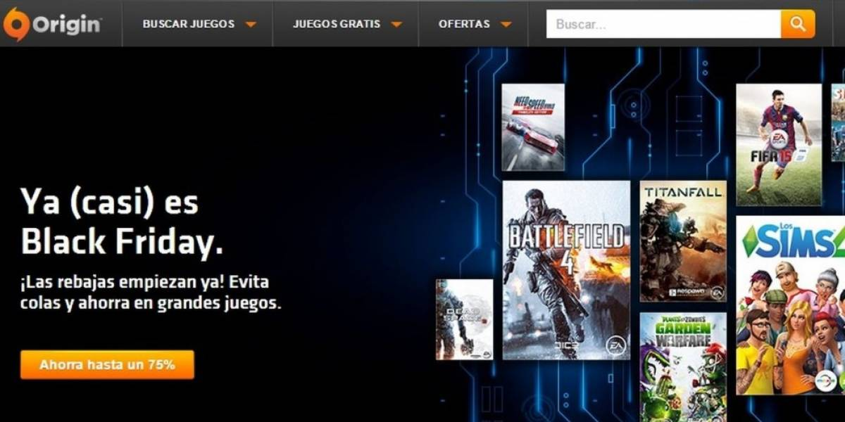 Origin anuncia su venta especial de Black Friday