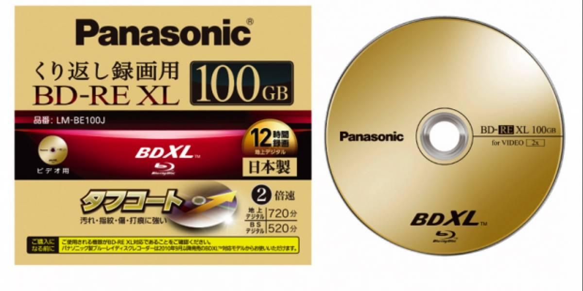 Panasonic pronto a lanzar BDXL-RW de 100GB