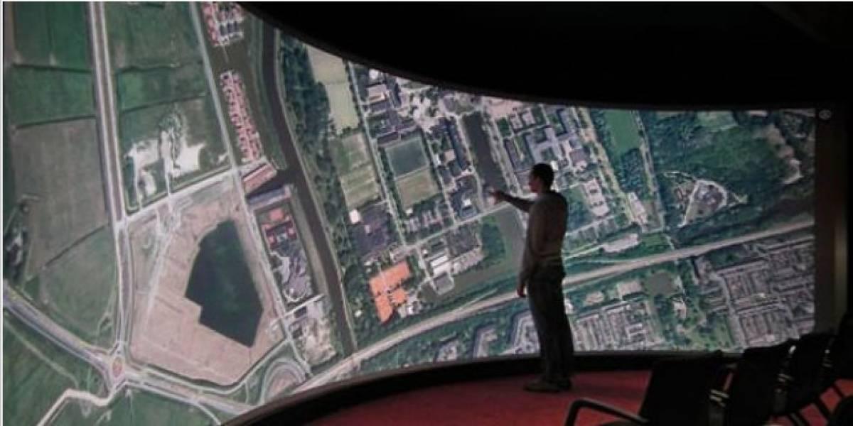 Esta es la pantalla táctil más grande del mundo