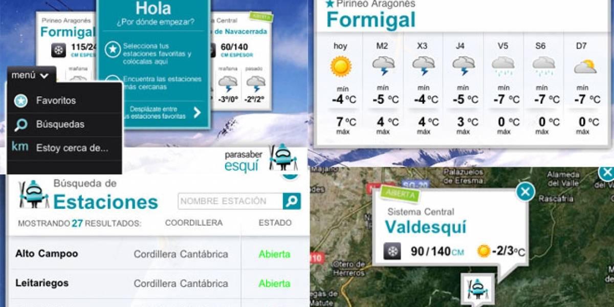 'ParaSaber Esquí': Toda la información de las pistas de esquí españolas en tu móvil