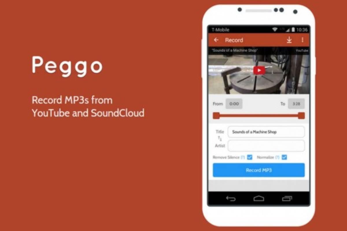 Peggo te permite grabar MP3 desde Soundcloud y YouTube en Android