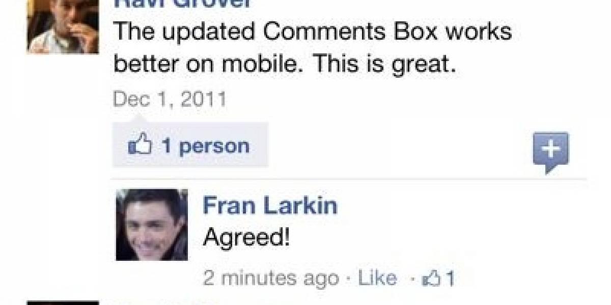 Facebook mejora app oficial de comentarios para sitios móviles