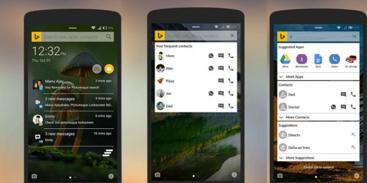Microsoft implementa búsquedas y más opciones en Picturesque para Android