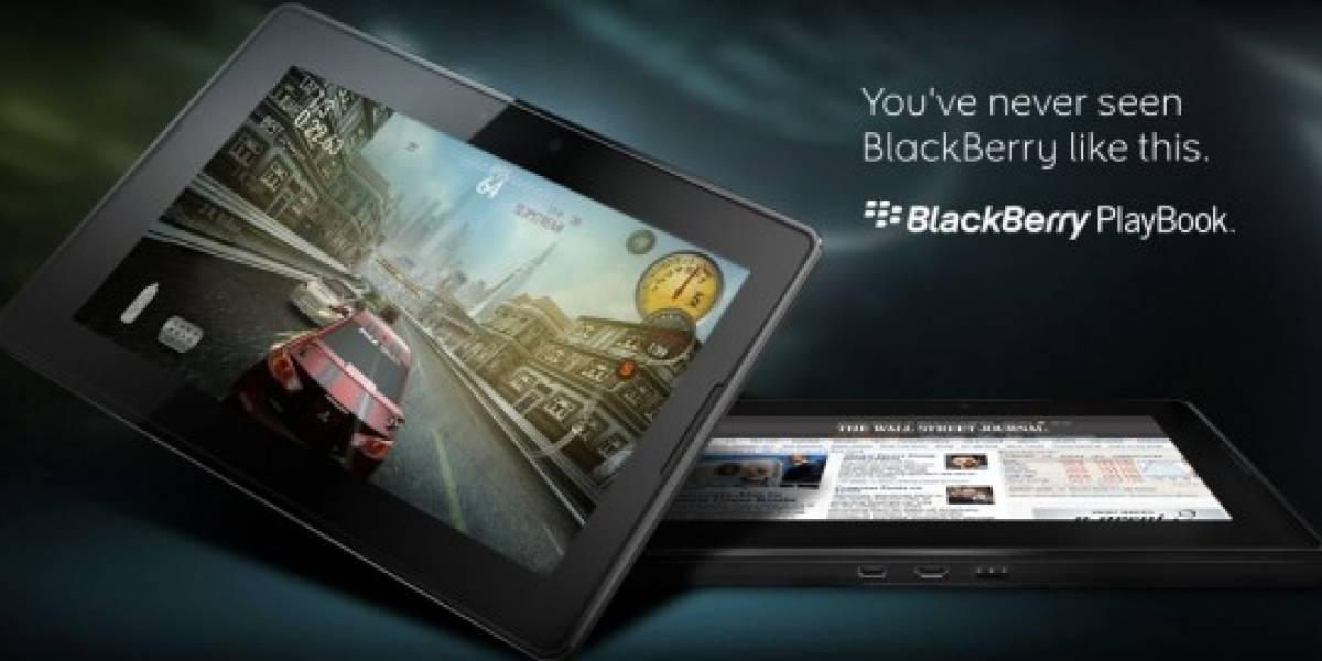 BlackBerry Playbook costará menos de US$500, dice RIM