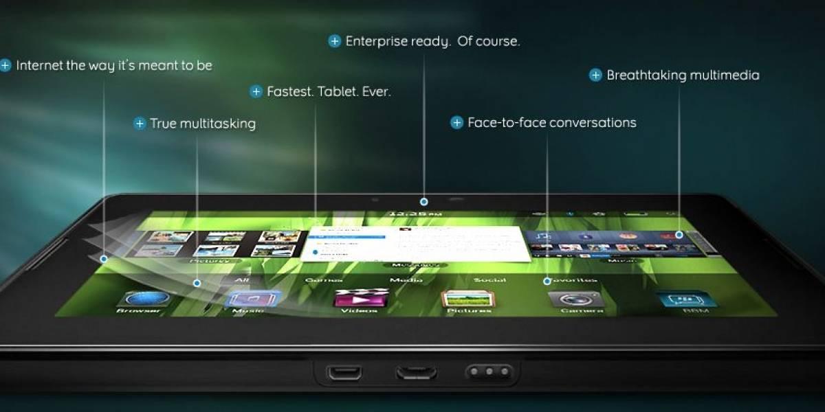 Especificaciones completas del PlayBook de RIM