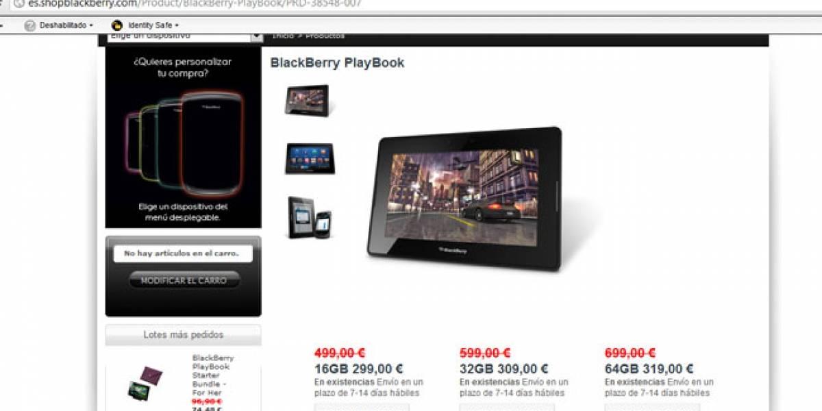 RIM desespera y rebaja al mínimo el precio de la Playbook en España