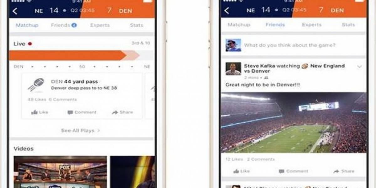 Usuarios de iOS podrán ver resultados deportivos al instante en Facebook