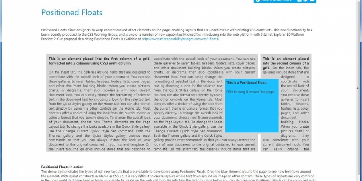 Microsoft lanza Internet Explorer 10 Platform Preview 2