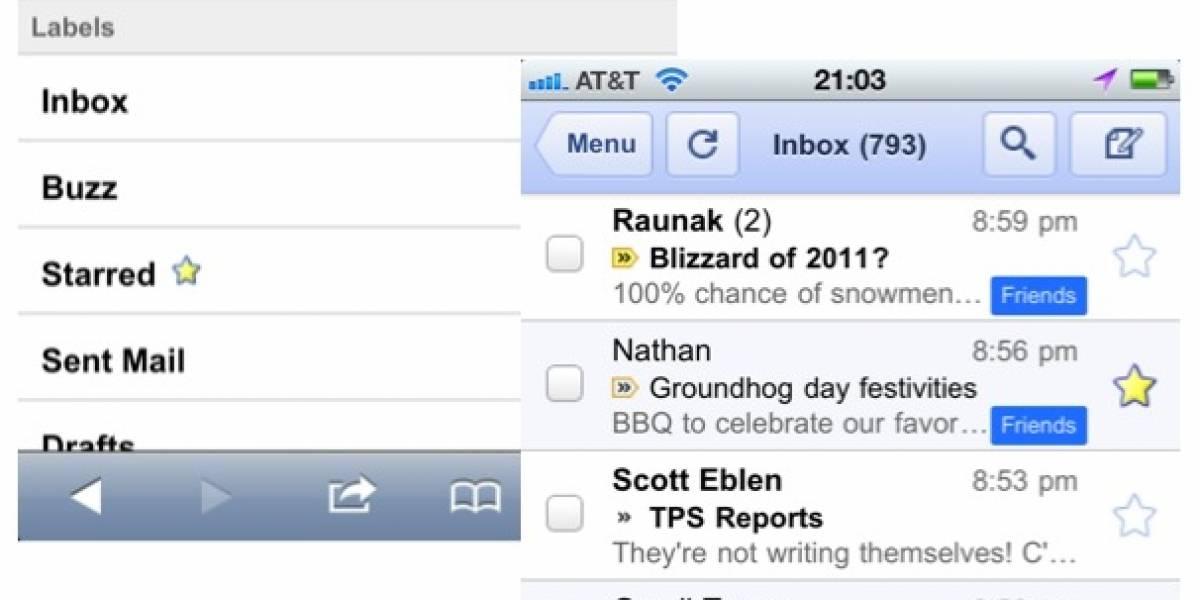Correos prioritarios de Gmail ahora se pueden ver en celulares con HTML5