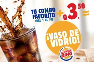 Vaso de vidrio Burger King