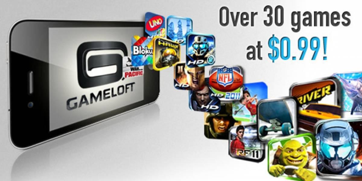 Gameloft rebaja 30 títulos a 1 dólar