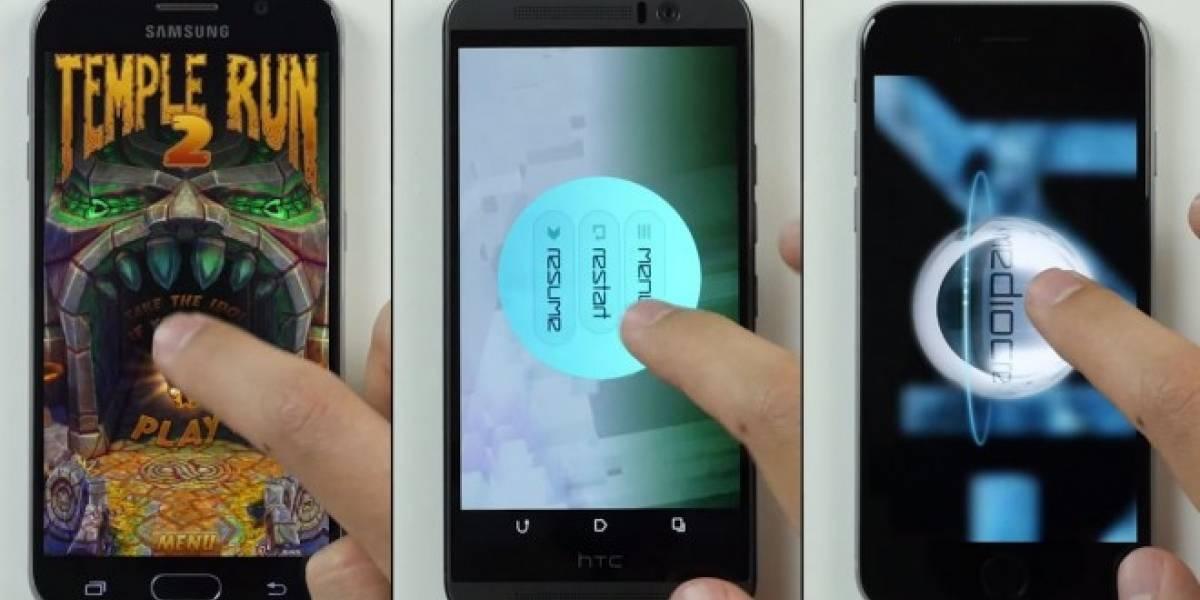 Galaxy S6, iPhone 6 y HTC One M9 se enfrentan en una prueba de velocidad