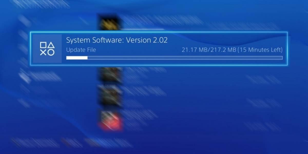 PlayStation 4 se actualiza a su versión 2.02