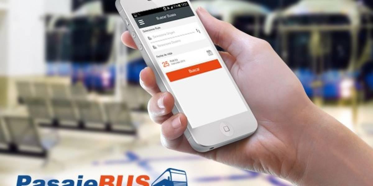 Compra tus pasajes de bus en Chile con la nueva app PasajeBus