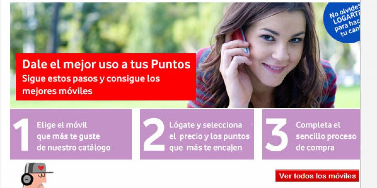 España: Vodafone dejará sin puntos a todos sus clientes de prepago en 2011